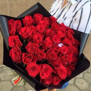 51 красная роза букет